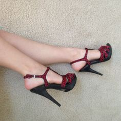 BLACK FRIDAY ONLYRed lady bug high heels Super chic lady bugs heels INC International Concepts Shoes Heels