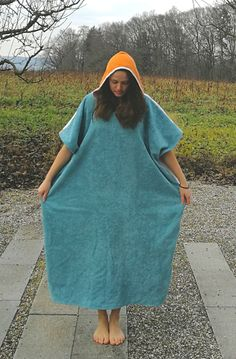 Surf Poncho, Rock Design, Surfboard, Fabrics, High Neck Dress, Couture, Boutique, Sewing, Casual