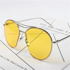 aaf84c02d7 3.09  Watch here - Colorful Transparent Sunglasses Round Ocean Lens Sun glasses  Men Women Fashion Glasses Gold Silver Metal Frames Eyewear  buyonline
