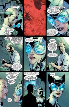 """Alfred Pennyworth conversing with Catwoman in """"Batman: Hush"""""""