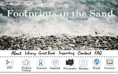 Footprints in the Sand: Previous Blog Banner Design