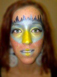 Bird Mask-Makeup designed with eyeshadow   #makeup #bird #costume #eyeshadow