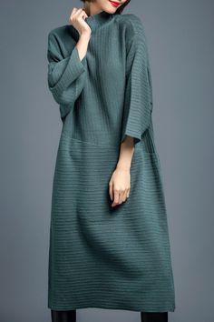 SUNPIN High Neck Midi Sweater Dress