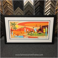 Are you an art lover?  Do you have a collection of fine art prints and posters from your favorite artists?  Would you like to display your artwork in your home?  At Karen's Detail Custom Frames of Orange County, CA we help our customers create stylish, timeless designs for all their custom picture framing projects, while keeping their budget in mind!  Give Karen a call or stop by the design studio soon, she'd be happy to help you design and create your next custom framing project.