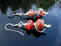 Handmade Lampwork Bead Earrings Handcrafted by BrooklynBeadGoddess, $25.00