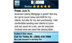 American Liberty Mortgage is great!! Not only do I go to Laura Leavy and ALM for my...