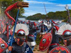 La prima battaglia di Adrianopoli tra Licinio e Costantino, la cui vittoria porterà Costantino a essere unico imperatore.