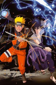 Wall Scroll Poster Fabric Painting For Anime Naruto Uzumaki Naruto & Uchiha Sasuke 459 L Naruto Shippuden Sasuke, Naruto Kakashi, Anime Naruto, Gaara, Naruto Gaiden, Naruto Team 7, Naruto Art, Sasuke Vs, Orochimaru Wallpapers