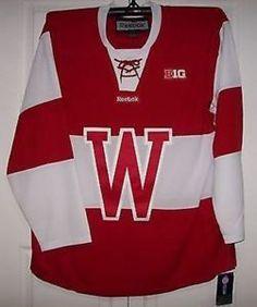 a wisconsin badgers new red w ncaa reebok premier jersey