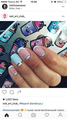 Negative space nail art.