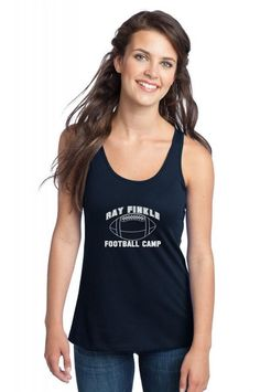 ray finkle football camp laces out Racerback Tank