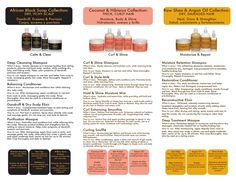 (Page 2) Breakdown of Shea Moisture's product line.