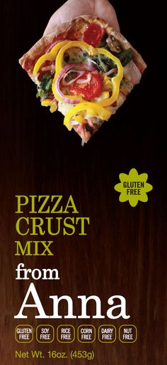 Breads from Anna — Gluten Free Pizza Crust Mix — Corn, Dairy, Soy, Nut and Rice Free too!