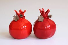 Pomegranate Ceramic  Pomegranate  Judaica gift for by TzadSheni