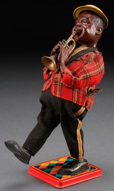 Louis Armstrong wind-up toy, Japan.