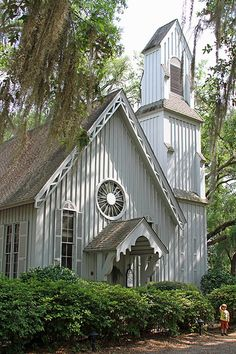 Church of the Holy Trinity... Historic Episcopal church located near Ridgeland, South Carolina...Built in 1858, and is a Carpenter Gothic style church...One of the few if not only survivors of the pre civil war era in Ridgeland, SC...Listed on the National Register of Historic Places