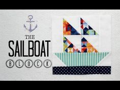 How to Make a Sail Boat Tooth Fairy Pillow Starting with a Quilt Block - Part 1 - Fat Quarter Shop - YouTube