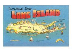 New York Art, Map Of New York, Jones Beach, Island Pictures, New York Poster, Disney World Florida, And So It Begins, Long Island Ny, Viajes