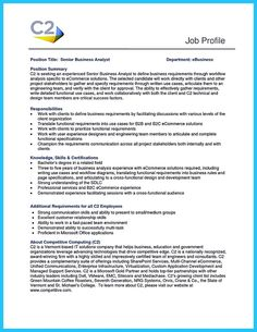 System Analyst Resume Postdoc Cover Letter  Resume Template  Pinterest