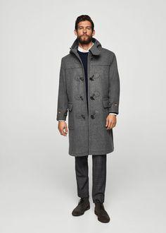 Παλτό μάλλινο με κουκούλα - Άντρας | MANGO Man ΜΑΝΓΚΟ Μαν Ελλάδα