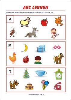 silben lesen und verbinden - bild- und wortkarten zum erstlesen | abc lernen, buchstaben lernen