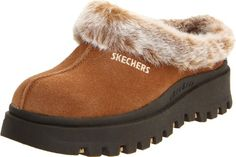 Skechers Women's Fortress Clog -  	     	              	Price: $  39.95             	View Available Sizes & Colors (Prices May Vary)        	Buy It Now      Warm up your toes and your style in the Shindigs Fortress mule from Skechers. Soft suede is accented with a playful faux fur collar, while the rubber sole brings...