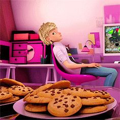 Poor Adrien, all he wants is some cookies.