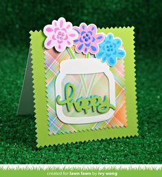 Create a fab flower arrangement with these layering stamps! This set is great for Mother's Day, sympathy cards, or other flower-filled crafts.Layer different co