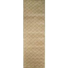Handmade Rectangular Modern Style Runner Area Rug in Gold, 2x6 area rugs