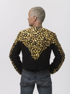 Find out what Kenneth D. King created when he inherited 75 pounds of antique uniform buttons.