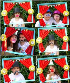 big top circus party photo booth