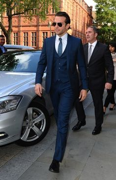 "Bradley Cooper Styles in Custom Ferragamo Suit for ""The Hangover Part 3″ London Premiere 