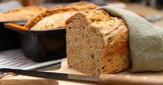 Grovbrød med solsikke og gresskar Banana Bread, Desserts, Tailgate Desserts, Deserts, Postres, Dessert, Plated Desserts