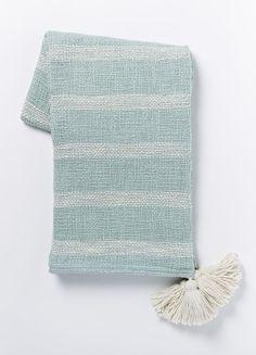 Tassel Stripe Throw