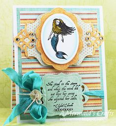 A Mermaids Crafts: Card made with Spellbinders and Paper Wings Productions stamps
