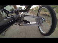 Recumbent Trike prototype trip through a back ally rough road - YouTube