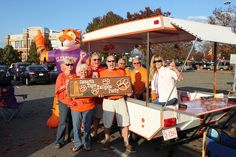 Pop up camper converted into the ultimate tailgaters dream. Go Tigers!