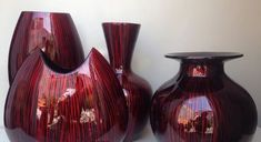 ceramic lacquer flower vases Vietnam - Ha Thai bamboo lacquer co. Pintura Patina, Bamboo Crafts, Garden Makeover, Beautiful Living Rooms, Lamp Shades, Vases Decor, Flower Vases, Home Furnishings, Vietnam