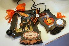 Vintage Inspired Halloween frame postcards decor sign plaque ornaments