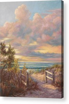 Beach Acrylic Print featuring the painting Beach Walk by Lucie Bilodeau