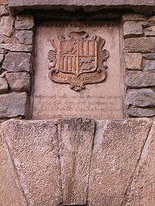 Andorra -Escudo de Andorra en la Casa de la Vall.