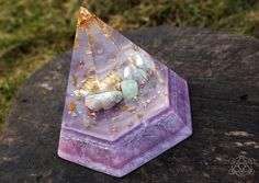 Prajja Large Hexagonal Orgonite Pyramid ~ Helps Activate Psychic Abilities /Orgonitefamily