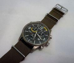 Junkers G38 Titanium Alarm model (6296M-5) – This is a superb looking chronograph with an excellent 4 jewel Swiss ETA G10.791 Quartz movement