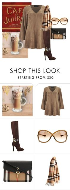 """Texture Series:  Suede"" by brandonandrews500 ❤ liked on Polyvore featuring MINKPINK, GUESS, Tom Ford and Burberry"