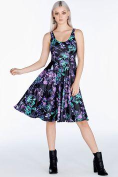 Midnight Hummingbird Pocket Midi Dress ($120AUD) by BlackMilk Clothing
