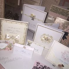 Cream invitations