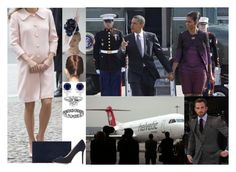 """""""Welcoming President and Michelle Obama at the airport for their short visit"""" by hanaofbelgium ❤ liked on Polyvore featuring Heist, Boucheron and Charlotte Olympia"""