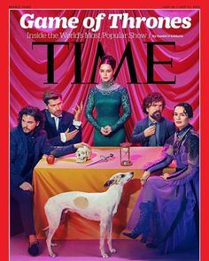Kit Harrington, Nikolaj Coster-Waldau, Emilia Clarke, Peter Dinklage & Lena Headey for Time Magazine July 2017 | Art8amby's Blog
