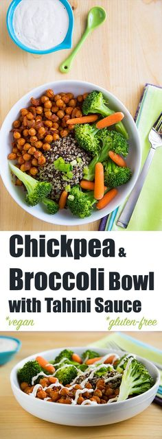 Chickpeas coated in a blend of cumin and smoked paprika and steamed vegetables top your favorite grain, drizzled with a tangy, vegan lower-fat tahini sauce.