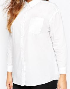 Image 3 of ASOS CURVE Boyfriend Shirt